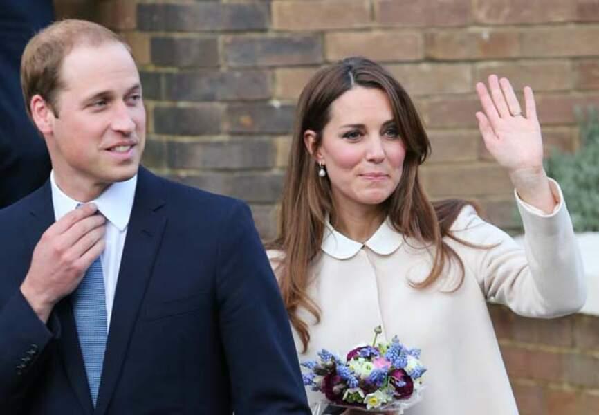 William et Kate dans son manteau Goat