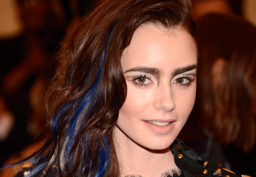 Lily Collins et son make-up ostentatoire