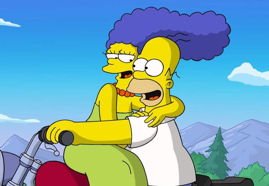 Marge et Homer dans les Simpson
