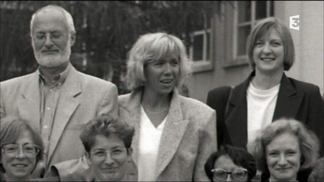 Brigitte Macron au moment de sa rencontre avec Emmanuel Macron