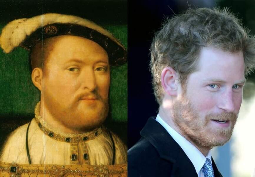 Le prince Harry et son lointain aïeul, le roi Henry VIII (1491 - 1547)
