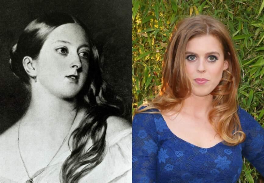 La toute jeune reine Victoria (ici vers 1800) et Beatrice d'York