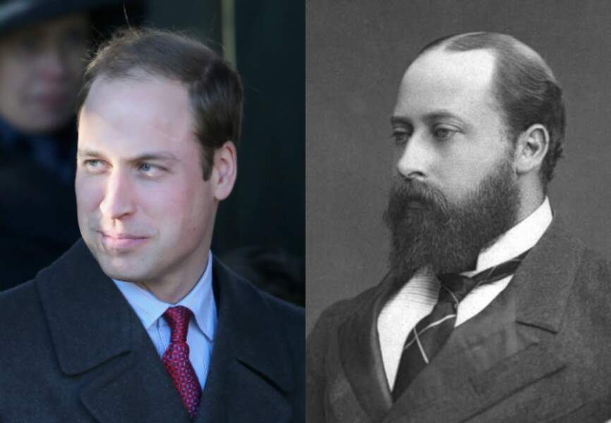 Le prince William et son arrière-arrière-arrière grand-père, le roi Edward VII
