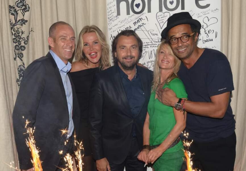 Guy Forget, Florentine Leconte, Henri leconte, Isabelle Camus et Yannick Noah