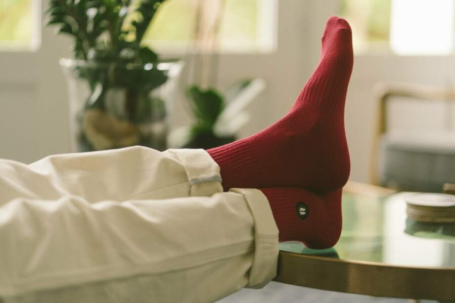 Chaussettes rouge, 15€, Hopaal