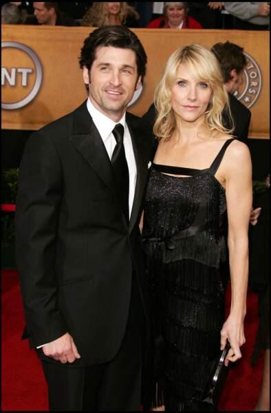 Côté cœur, Patrick Dempsey est un homme heureux dans les bras de sa femme, Jillian Fink.