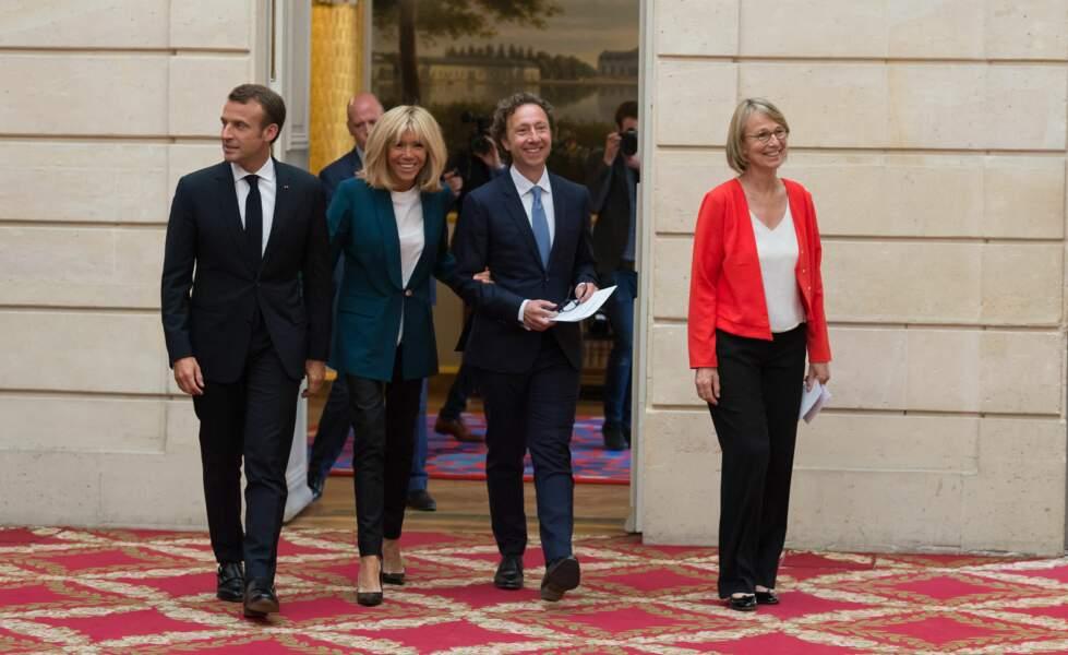 """Promu """"Monsieur Patrimoine"""" par Emmanuel Macron, Stéphane Bern est aussi un ami de Brigitte Macron."""