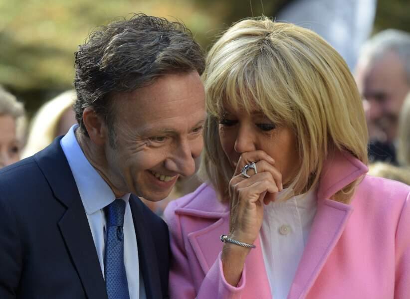 Stéphane Bern et Brigitte Macron ont plusieurs fois affiché leur complicité, comme ici lors des Journées Européennes du Patrimoine, à Bougival, en septembre 2018.
