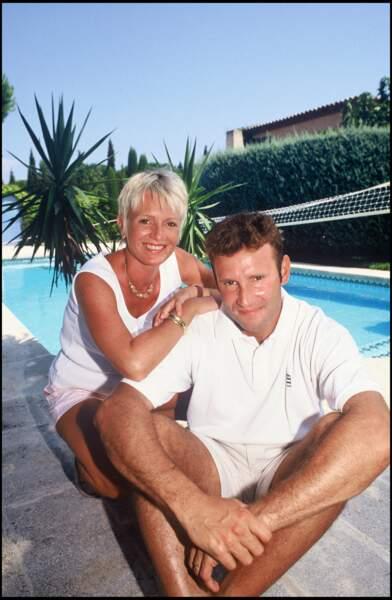Sophie Davant et Pierre Sled, en 1994.