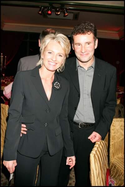 Sophie Davant et Pierre Sled, au pavillon Ledoyen, à Paris, en novembre 2007.