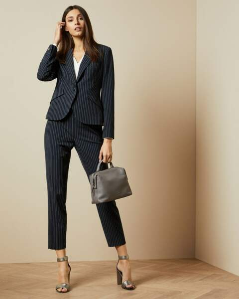 Veste Angila de costume à rayures, 260€, Ted Baker London