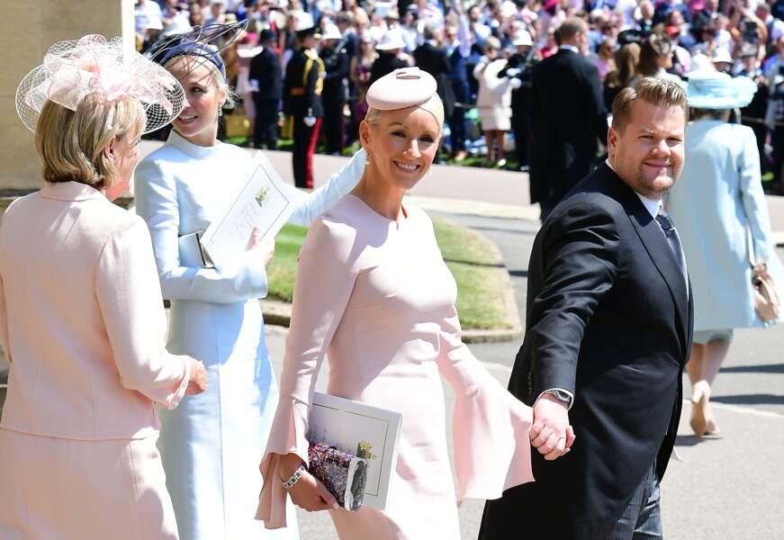 James Corden et sa femme Julia Carey étaient ravis d'être conviés aux noces de Meghan Markle et du prince Harry en mai 2018.