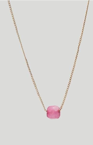 Collier pierre de juillet plaqué or, 25,95 €, Massimo Dutti
