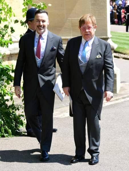 David Furnish et Elton John n'auraient raté pour rien au monde le mariage de Meghan Markle et du prince Harry. Le chanteur avait bouleversé les foules à la mort de Lady Diana avec le titre 'Candle in the wind' et le duc de Sussex ne l'a jamais oublié.