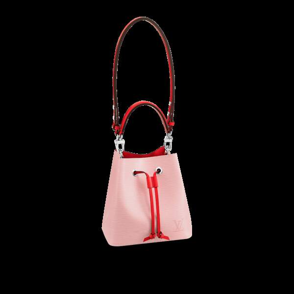 Sac seau NéoNoé en cuir lisse contrasté, 1500€, Louis Vuitton