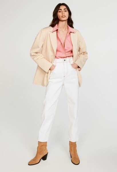 Chemise à manches longues et patte de boutonnage, 185€, Claudie Pierlot