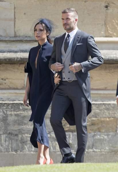 David et Victoria Beckham sont des proches du clan Windsor, et de Meghan Markle et du prince Harry. En mai 2018, c'est donc tout naturellement qu'ils ont assisté au mariage royal.