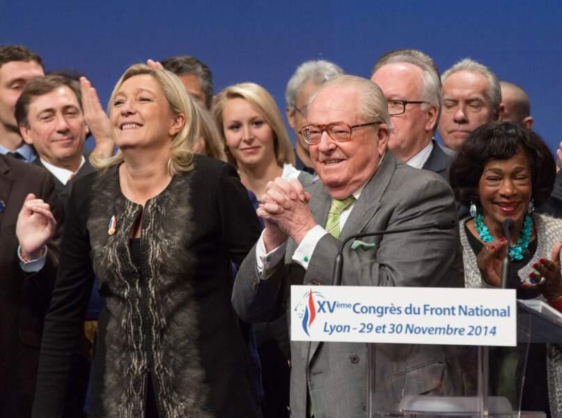 Jean-Marie et Marine Le Pen faisaient équipe