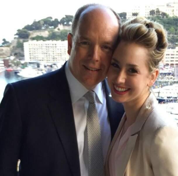 Albert II de Monaco et sa fille Jazmin Grimaldi sur une photo postée sur Instagram en 2021