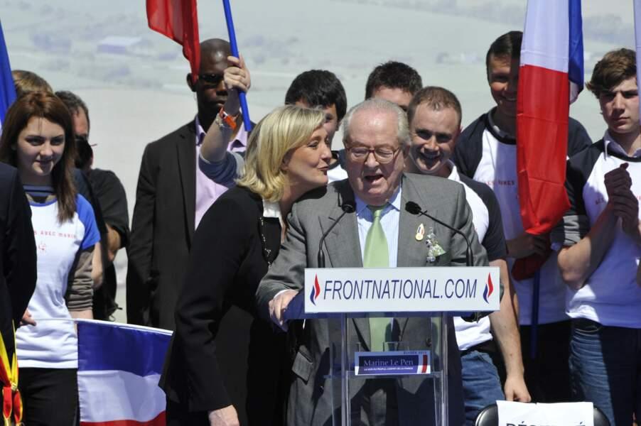 Jean-Marie et Marine Le Pen partageaient les mêmes valeurs