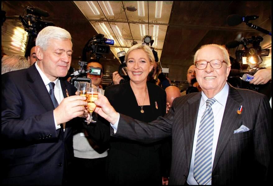 Marine Le Pen et son père ont arrosé la victoire