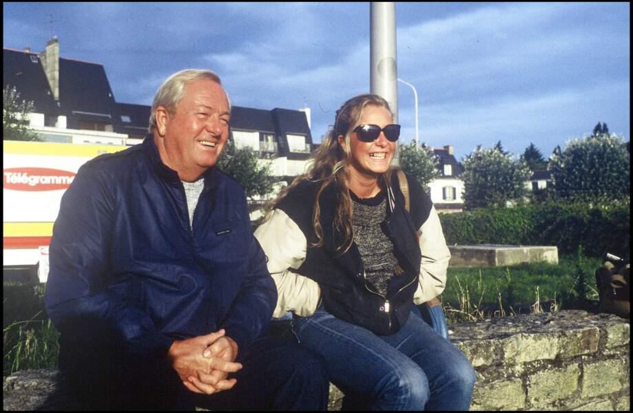 Jean-Marie Le Pen et sa fille Marine, jeunes