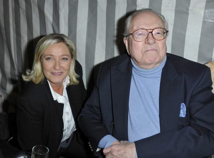 Jean-Marie et Marine Le Pen, toujours ensemble