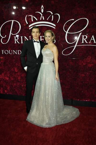 Jazmin Grimaldi et son compagnon Ian Mellencamp de la soirée Princess Grace Awards 2019 à l'hôtel Plaza de New York le 25 novembre 2019