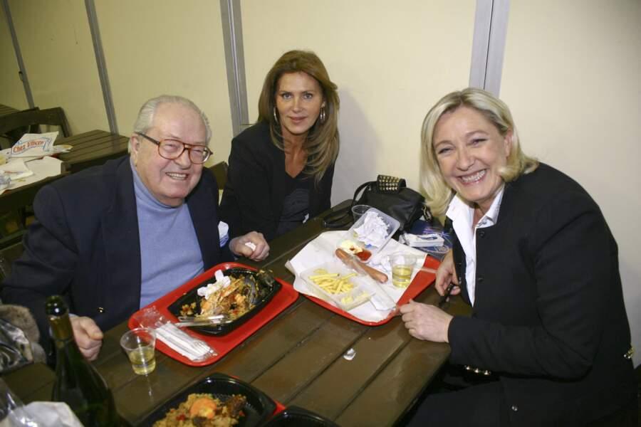Jean-Marie et Marine Le Pen s'affichaient ensemble