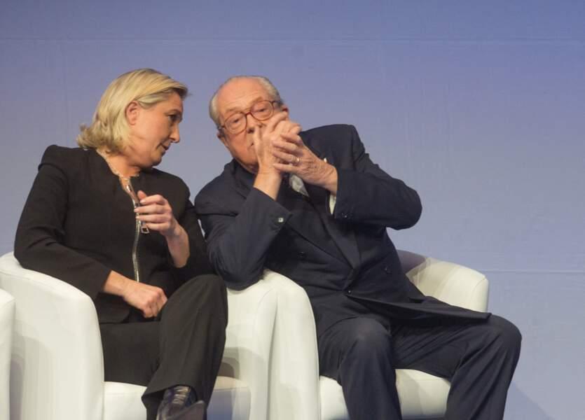 Jean-Marie et Marine Le Pen passaient un bon moment