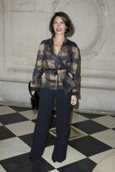 Alessandra Sublet au photocall du défilé de mode Christian Dior en janvier 2018