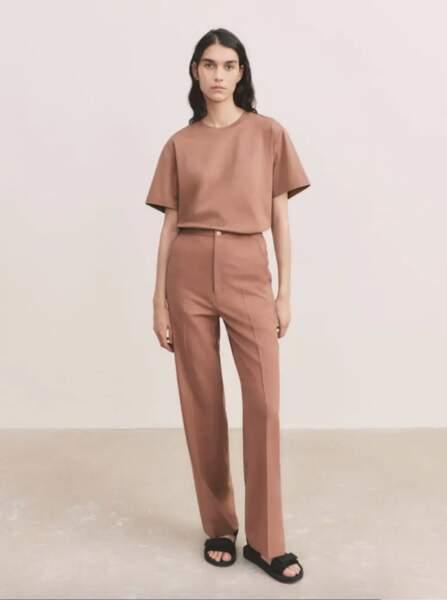 T-shirt AIRism Oversize en Coton, 14,90€, Uniqlo U - Pantalon à Pinces, 39,90€,  Uniqlo U