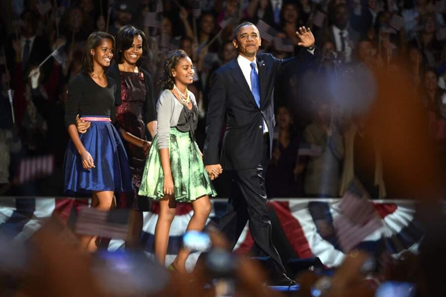 Malia et Sasha Obama en 2012
