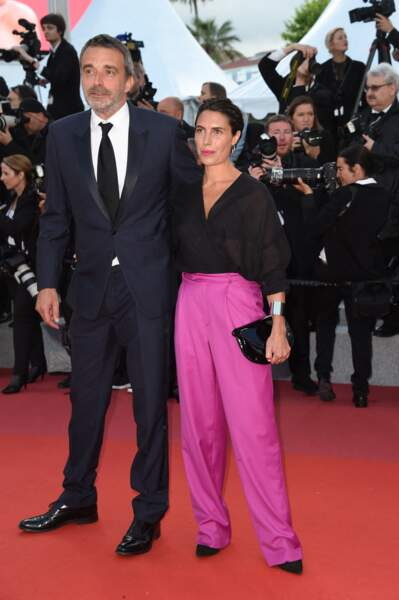 Alessandra Sublet et son mari Clement Miserez lors du 71ème Festival International du Film de Cannes le 13 mai 2018