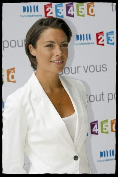 Alessandra Sublet à la conférence de presse de rentrée de France Télévisions à Paris, le 27 août 2009
