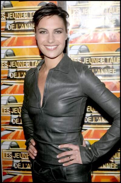 Alessandra Sublet à la cérémonie de remise des trophées des jeunes talents de l'année 2008 à Paris