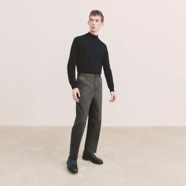 Pull Col Montant, 19,90€ - Pantalon à Pinces, 39,90€, Uniqlo U