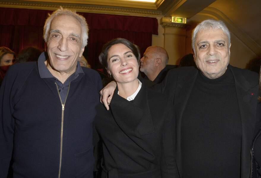 """Gérard Darmon, Alessandra Sublet et Enrico Macias - Générale de la pièce """"Tout à Refaire"""" au théâtre de la Madeleine à Paris, le 8 février 2016"""