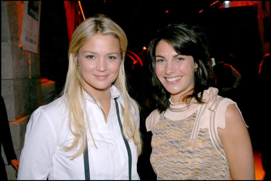 Alessandra Sublet et Virgnie Efira aux 20 ans de Paris Première, à Paris, en 2006
