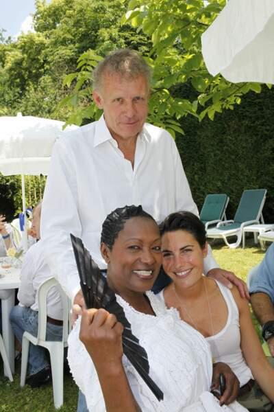 Alessandra Sublet, Babette de Rozières et Patrick Patrick Poivre d'Arvor à une Garden Party le 27 juin 2010