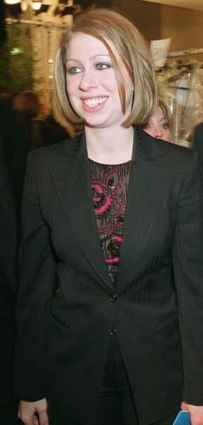 Chealsea Clinton en 2002