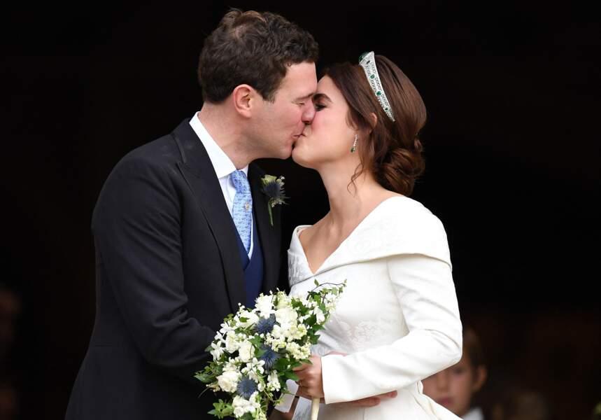 En la chapelle Saint-George au château de Windsor, le couple vit un conte de fées des temps modernes