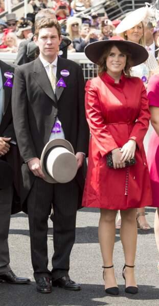 Sous le charme, la princesse Eugenie présente Jack Brooksbanck aux Windsor