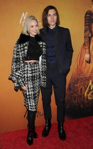 """Passionnée de chanson, mais aussi de cinéma, Jazmin Grimaldi a assisté à l'avant-première du film """"Mary Queen of Scots"""" au """"Paris Theatre"""" à New York, le 4 décembre 2018 avec son compagnon Ian Mellencamp"""