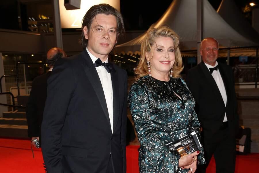 Benjamin Biolay et Catherine Deneuve au 67ème Festival de Cannes, le 21 mai 2014