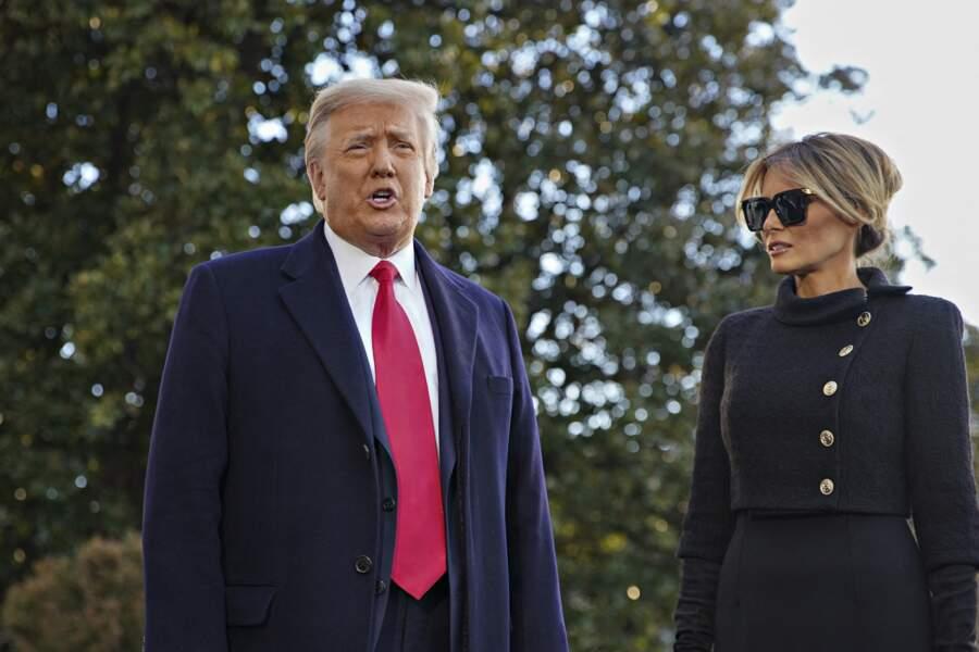 Ce mercredi 20 janvier, Donald et Melania Trump ont fait leurs adieux à la Maison Blanche
