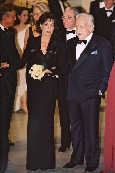 Caroline de Monaco, ci-dessus au côté de Rainier III le 24 mars 2001.