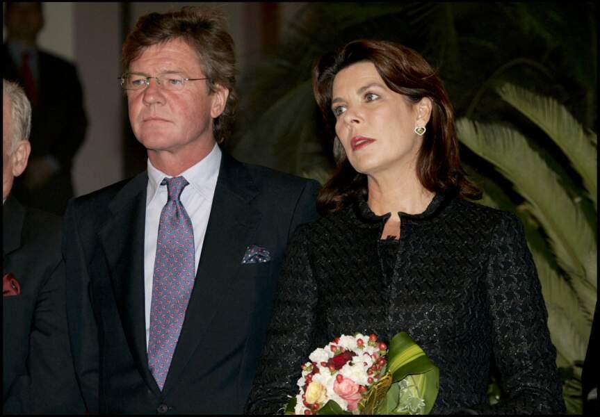 Après une histoire discrète avec Vincent Lindon, Caroline de Monaco a retrouvé l'amour dans les bras du prince prince Ernst August de Hanovre (photo prise à l'hôtel Monte-Carlo Bay de Monaco, le 7 octobre 2005)