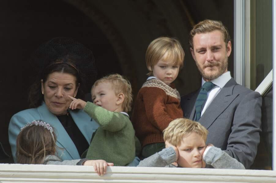 Caroline de Monaco (ici avec son fils Pierre le 19 novembre 2019) a eu la joie de devenir grand-mère de sept petits-enfants dont six garçons
