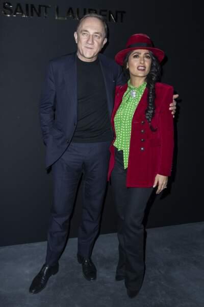 Mariés le 14 février 2009, jour de la Saint-Valentin, Salma Hayek et François-Henri Pinault (ici lors du défilé 2019/2020 d'Yves Saint-Laurent le 26 février 2019) ont eu une fille prénommée Valentina